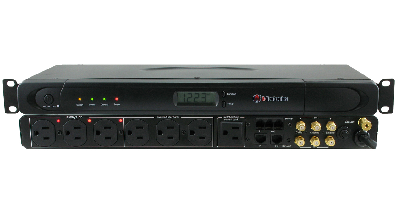 ANI-17015ASUR: 9 Outlet Rack-Mountable Power Conditioner Power Strip (PDU) w/ Built-In Power Meter
